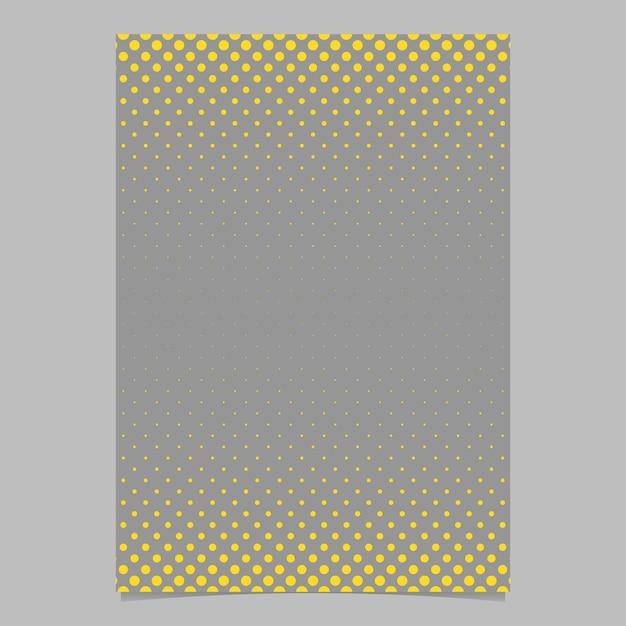 Retro modello mezzitoni di puntini modello flyer modello - documento vettoriale, opuscolo grafico con cerchi gialli Vettore gratuito