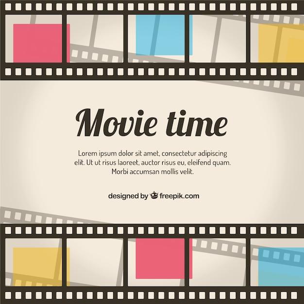 Retro movie tempo sfondo Vettore gratuito