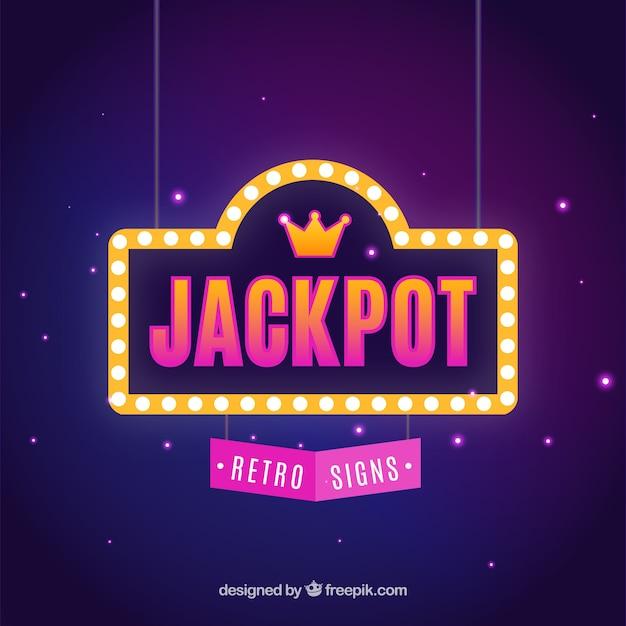 Retro sfondo jackpot Vettore gratuito