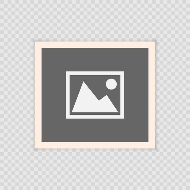 Retro struttura realistica della foto di vettore, progettazione della foto del modello. isolato su sfondo trasparente Vettore Premium