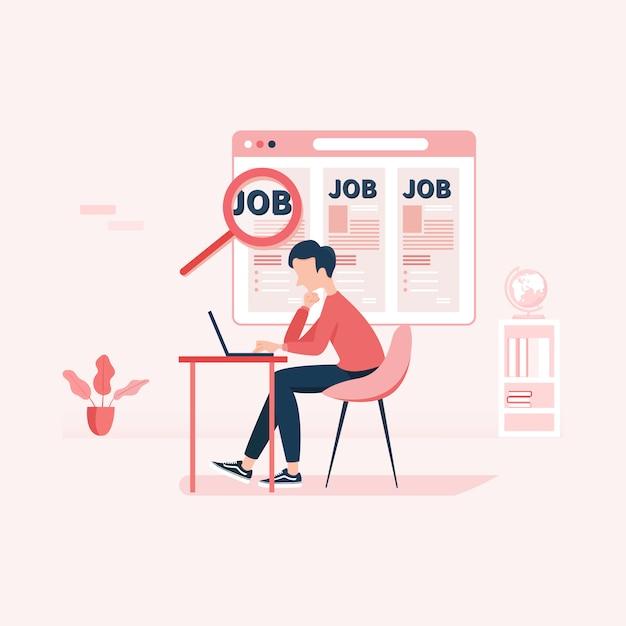 Ricerca di lavoro risorse umane assunzione carriera Vettore Premium