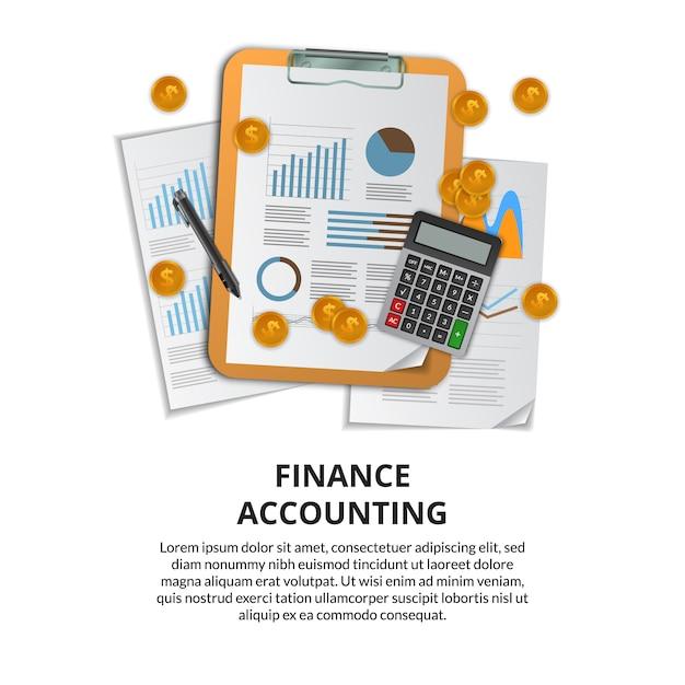 Riferire analisi dei dati per finanza, marketing, ricerca, project management, audit. Vettore Premium