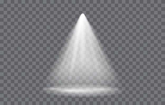 Riflettore effetto luce con sfondo trasparente Vettore Premium