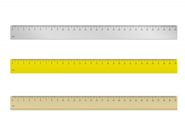 Righello 30 cm vettoriale Vettore Premium