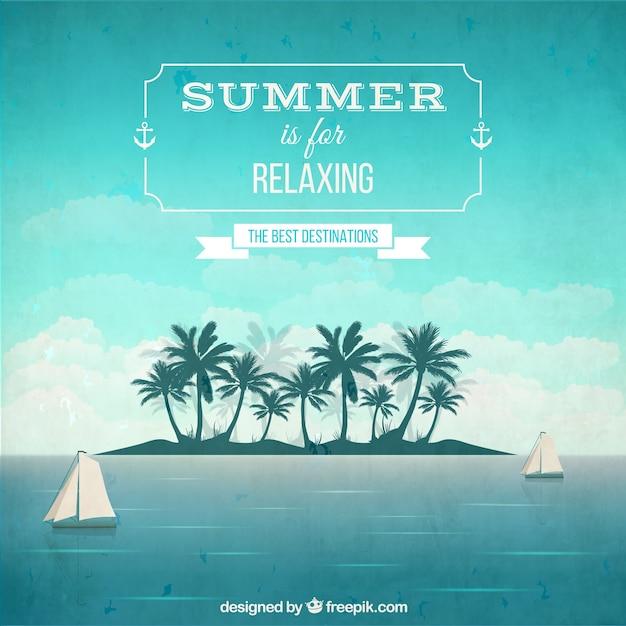 Rilassante estate sfondo Vettore gratuito