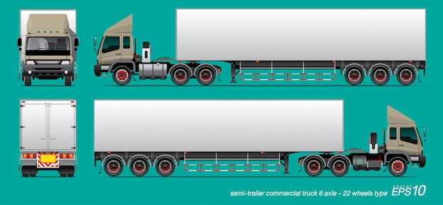 Rimorchio del camion Vettore Premium