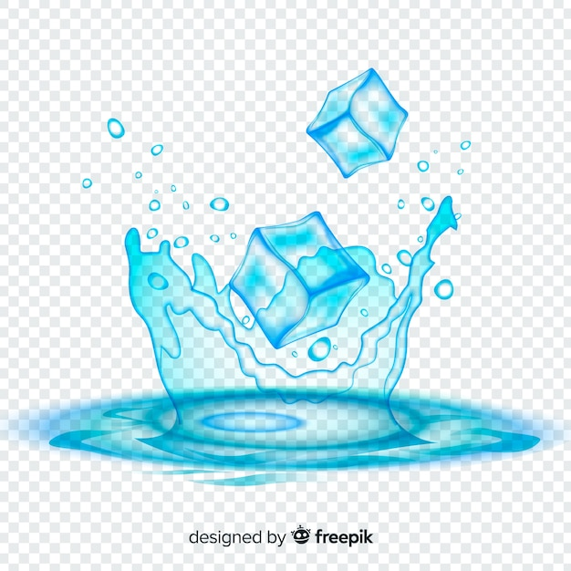 Rinfrescante sfondo di cubetti di ghiaccio Vettore gratuito