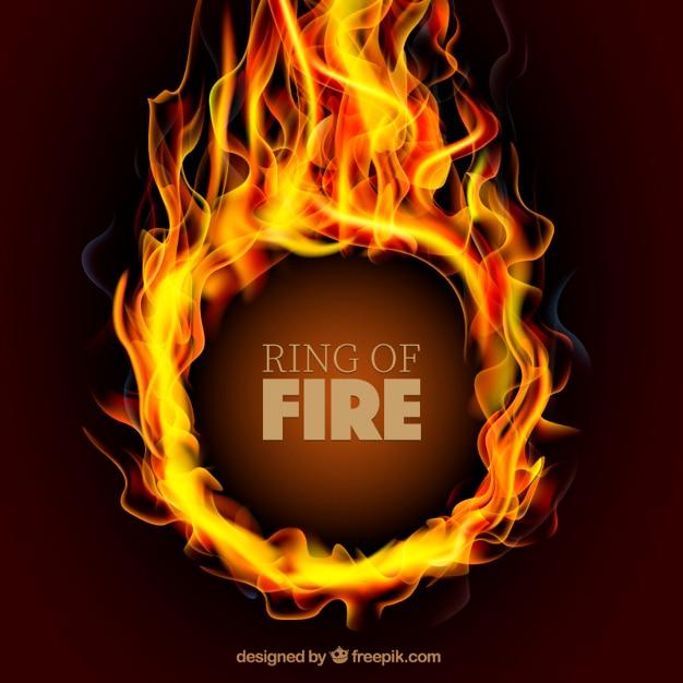 Ring on fire Vettore gratuito