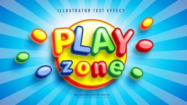 Riproduci l'effetto stile testo della zona Vettore gratuito