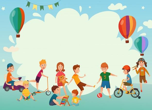 Riproduzione di sfondo per bambini Vettore gratuito