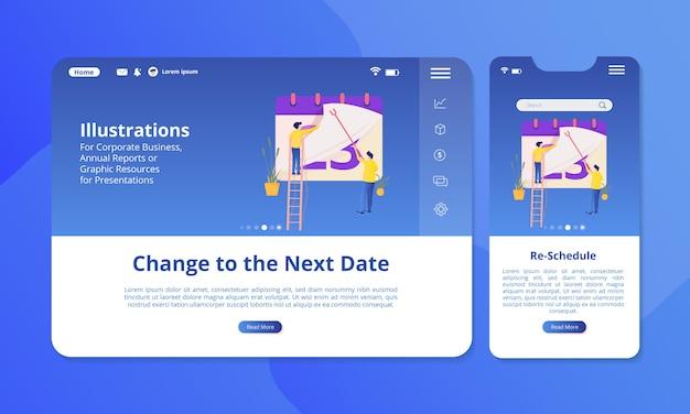 Riprogrammare l'illustrazione sullo schermo per il web o il display mobile. Vettore Premium