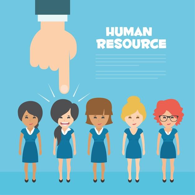 Risorse umane background design Vettore gratuito