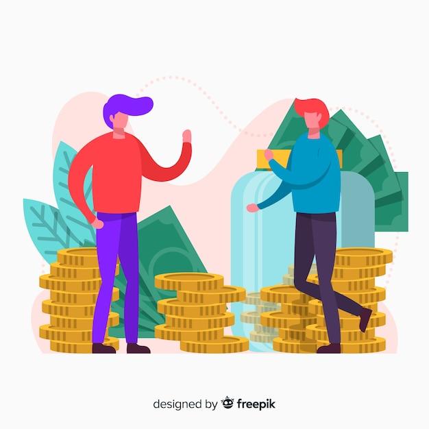 Risparmio di denaro concetto di fondo Vettore gratuito
