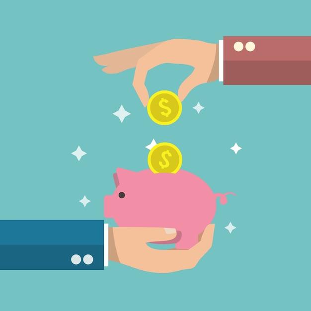 Risparmio di denaro sfondo Vettore gratuito