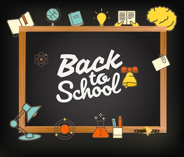 Ritorno a scuola auguri. Vettore Premium