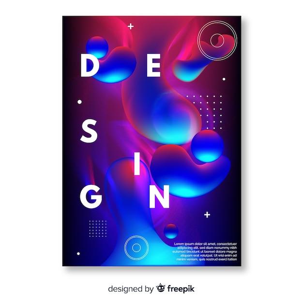 Rivestimenti di design con effetto liquido colorato Vettore gratuito
