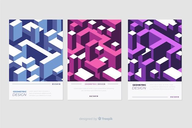 Rivestimenti di design in stile geometrico Vettore gratuito