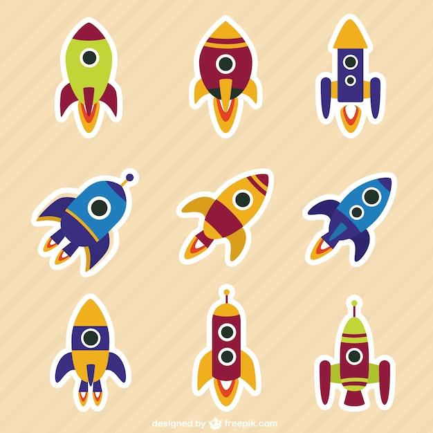 Rockets collezione in stile cartone animato scaricare
