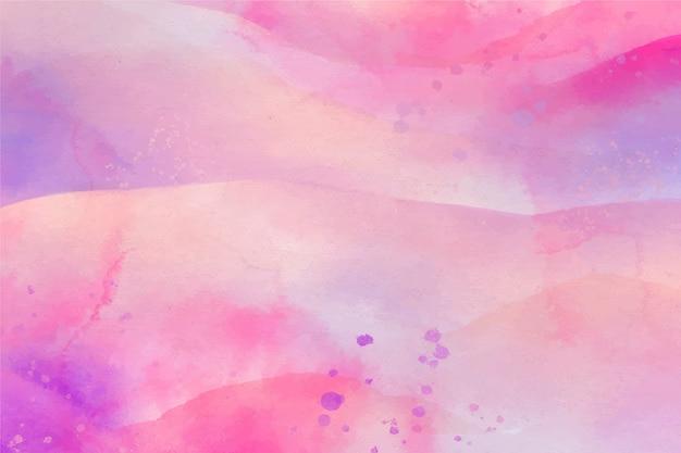 Rosa di pendenza del fondo dello spazio della copia dell'acquerello Vettore gratuito