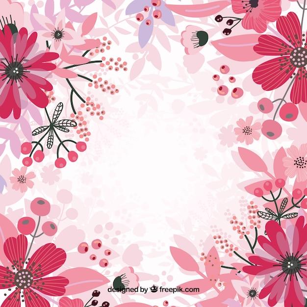 Rosa sfondo floreale vettore Vettore gratuito