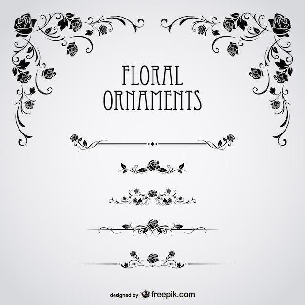 Rose Nere Floral Vector Scaricare Vettori Gratis