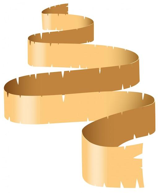 Rotolo di carta marrone Vettore gratuito