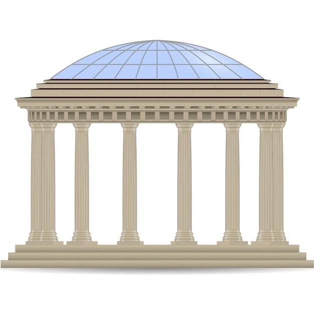 Rotonda di pietra Vettore Premium