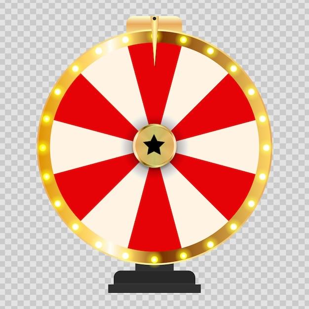 Ruota della fortuna, illustrazione fortunata Vettore Premium