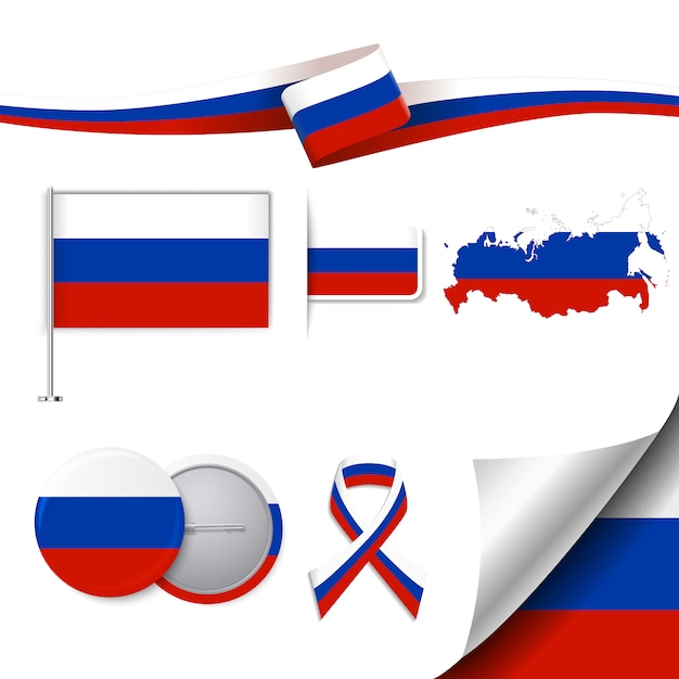 Russia elementi rappresentativi raccolta Vettore gratuito