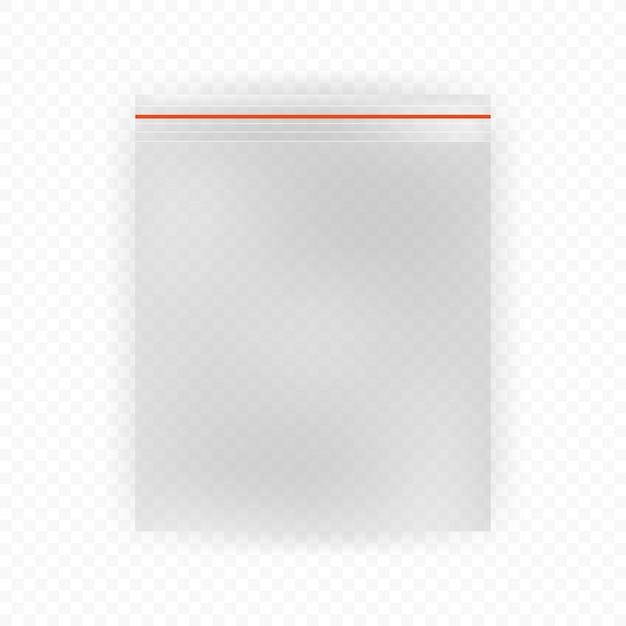 Sacchetti di plastica realistici su fondo bianco Vettore Premium