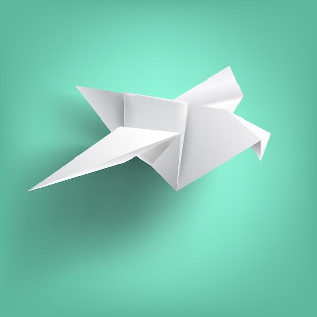 Saggezza sulla piegatura della carta degli uccelli Vettore Premium