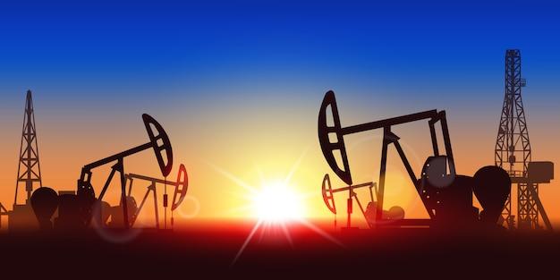 Sagoma della pompa dell'olio Vettore Premium