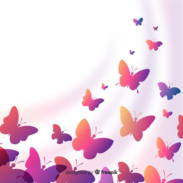 Sagome di farfalle Vettore gratuito