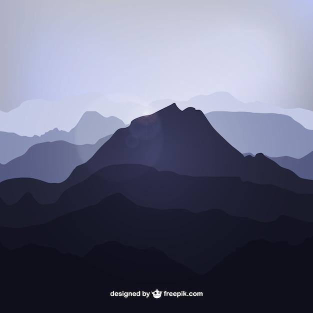 Sagome di montagna Vettore gratuito