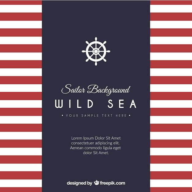 Sailor modello di sfondo Vettore gratuito