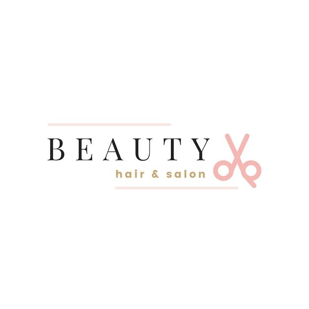 Salone di bellezza logo design vettoriale Vettore gratuito