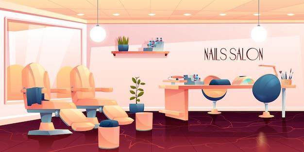 Salone per manicure, procedure di cura delle unghie per pedicure Vettore gratuito