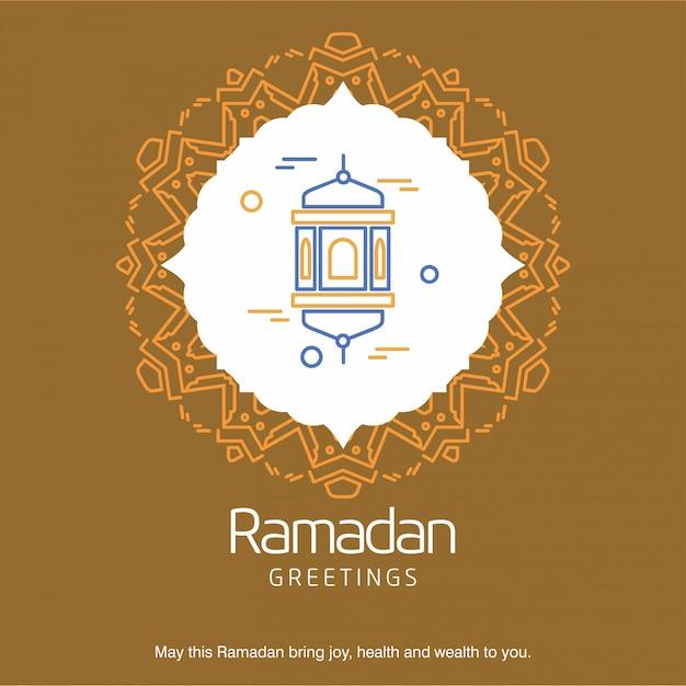 Saluti al ramadan Vettore gratuito