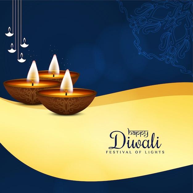 Saluto alla moda felice diwali festival Vettore gratuito