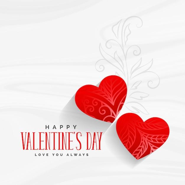 Saluto decorativo giorno di San Valentino con arte floreale Vettore gratuito