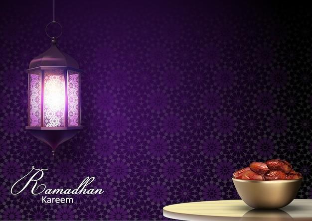 Saluto di ramadan kareem Vettore Premium
