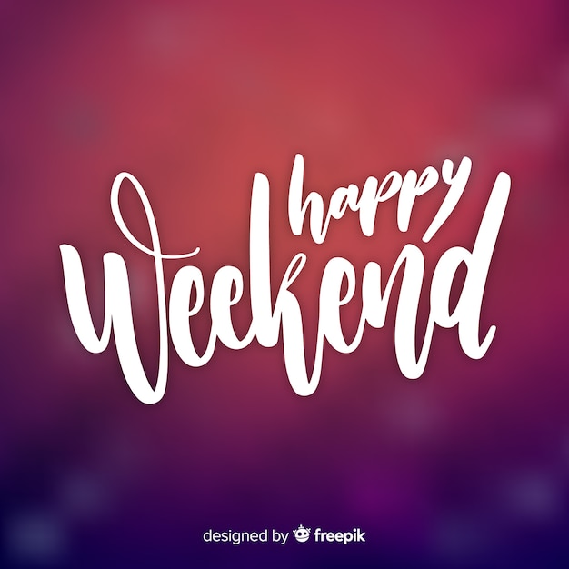 Saluto weekend sfocato Vettore gratuito