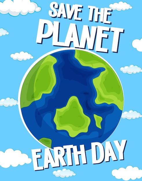 Salva il giorno del pianeta terra Vettore gratuito