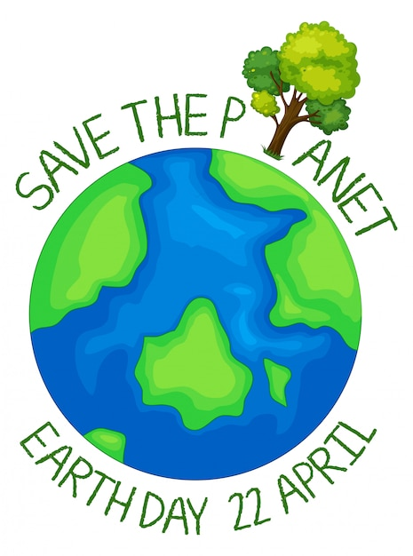 Salva l'icona del pianeta Vettore gratuito