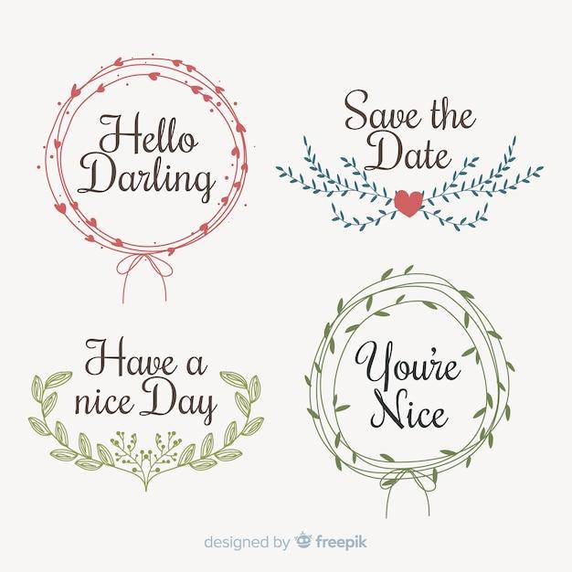 Salva la collezione di elementi decorativi per data Vettore gratuito