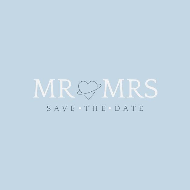 Salvare il vettore di invito matrimonio data Vettore gratuito