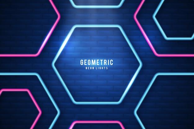 Salvaschermo di luci al neon di forme geometriche Vettore gratuito