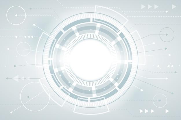 Salvaschermo di tecnologia futuristica Vettore gratuito