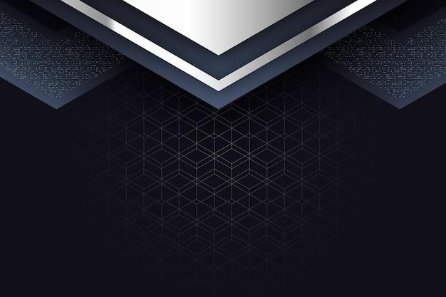 Salvaschermo realistico di forme geometriche eleganti Vettore gratuito