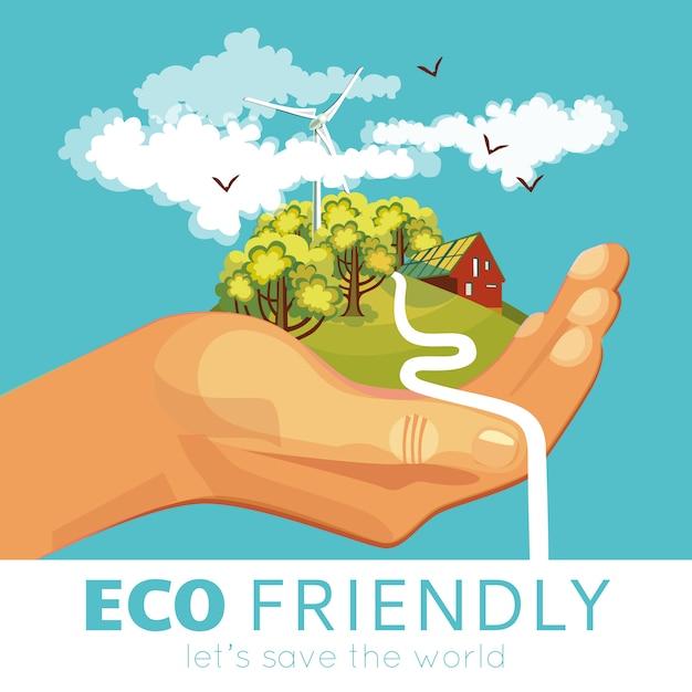 Salvataggio di ambiente poster Vettore gratuito